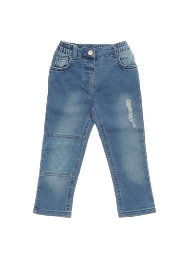 Panço Kız Bebek Örme Pantolon 18221091100 Mavi